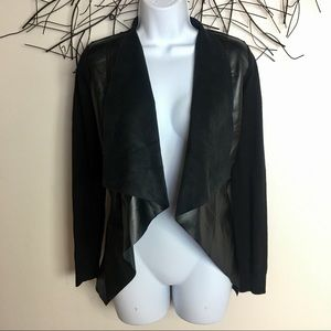 Michael KORS vegan leather blazer jacket black